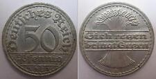 GERMANIA - DEUTSCHES REICH - RARA MONETA DA 50 PFENNING - 1921