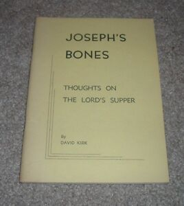 SIGNED 1973 David Kirk JOSEPH'S BONES Thoughts on the Lord's Supper CMP JESUS