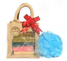 Soap Bar & Shower Scrunch in Jute Bag Gift Set