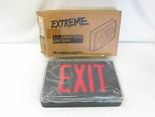 New in Box Lithonia Extreme All Conditions Exit Sign LV S 1 R 120/277 EL N SD