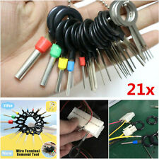 21Pcs/Set Car Terminal Wiring Crimp Connector Pin Removal Key Extractor Tools