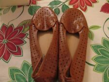 db677ac47d55 Comfort View Brown Comfortable Rubber Soled Flat Shoes