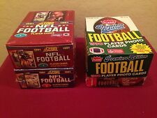 1990 1991 1993 Fleer Score Stadium Club FOOTBALL 4 Box Lot