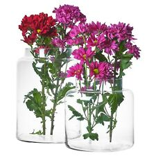 Large Clear Glass Cylinder Shaped Vases Flowers Aquarium Decorative Display Item