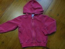 PETIT BATEAU 3T Pink Velour Hooded Sweatshirt Hoodie