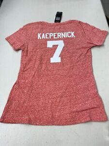 COLIN KAEPERNICK #7 SAN FRANCISCO 49ERS NFL WOMEN'S SMALL TEE SHIRT FREE SHIP