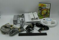 Nintendo Wii - White RVL-001 Console Set 2 Controllers & Nunchuk Plus More!