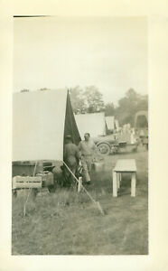 WWII 1942 US Army Pine Camp, NY maneuvers Photo set up cooks kitchens