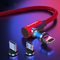 2020 New 540° 3 in 1 Magnetic 3A Fast Charger Cable For Type-C Micro USB iPhone