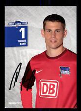 Thomas Kraft Autogrammkarte Hertha BSC Berlin 2012-13 Original Sign+A 162195