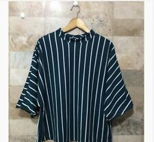 OVERSIZED CLOSED NECK STRIPES BB - BLUE GREEN