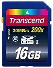 TRANSCEND SD HC SDHC UHS-I U1 30MB/SEC 16GB 16G CLASS 10 16 G GB MEMORY CARD NEW