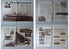 Octobre 1932-PAQUEBOT NORMANDIE -PENHOET-SAINT NAZAIRE-SS NORMANDIE CON launch