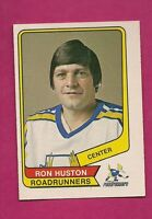 RARE 1976-77 OPC WHA # 36 ROADRUNNERS RON HUSTON ROOKIE  EX-MT CARD (INV#4355)