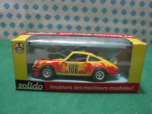 Rare Vintage - Porsche Carrera Rs Tour Car 1973 - 1/43 Solido Ref. 24