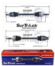 Suzuki Swift Chevy Geo Metro 95-01 FWD 2 Front CV Axle Shaft Assies SurTrack Set