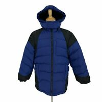 Below Zero Down Puffer Coat Youth Size L (14/16) Blue/Black Winter Snow Jacket