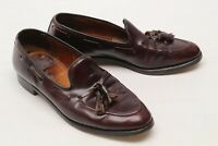 Cheaney Mens Dress Shoes 9 D Burgundy Leather Tassel Moc Toe Loafers England