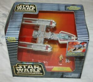 Star Wars: Micro Machines Action Fleet - Red Y-Wing - Yellow Leader + Box Galoob