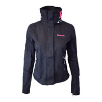 Bench Women's Black Pink Light Weight Barbecue Zip-Up Jacket