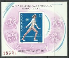 Romania 4th European Conference of Sport Gymnastics Imperf Proof Essay ** 1979
