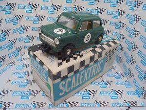 Scalextric C76 Mini Cooper green #9 fwd  Exc/boxed