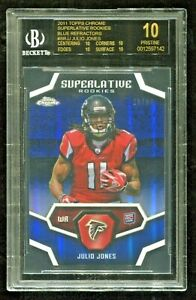 2011 Chrome Julio Jones Rookie Blue Refractor /50 BLACK LABEL BGS 10 Falcons