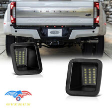 2017-2020 Ford F250 F350 F450 Pickup BRIGHT WHITE LED License Plate Lights Pair