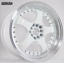 17X9 +25 Aodhan AH03 5X100 White Wheel Fits DODGE NEON SRT4 FORESTER OUTBACK