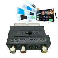 1080P HDMI Scart Plug to 3 RCA AV Audio Phono Adapter S-video Converter V2S3