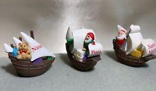 Thanksgiving Hallmark Merry Miniatures Nina Pinta Santa Maria Ships
