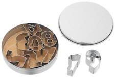 Juez Conjunto de 9 Cortadores de galletas de gran número-TC203 Lata de almacenamiento de información.