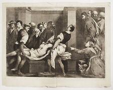 LAZZARO - Pordenone Jan v. Troyen Incisione Originale 1600