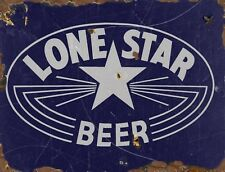 "TIN SIGN ""Lone Star Rust""  Beer Mancave Wall Decor Texas Vintage Bar Gift"