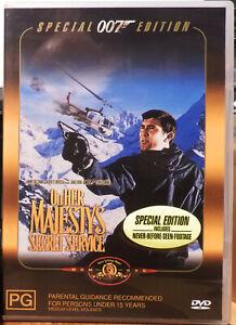 ON HER MAJESTY'S SECRET SERVICE (James Bond 007) DVD (Special Edition) AS NEW