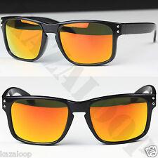 Hombre Rectangular ESCUDO Deportivo Informal Gafas de sol UV400