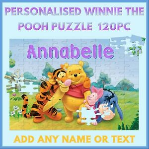 Personalised Winnie The Pooh Puzzle - 120pc Jigsaw - Name Gift, Kids, Birthday