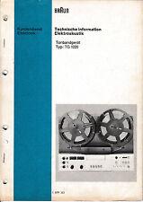 Service Manual-Anleitung für Braun TG 1020