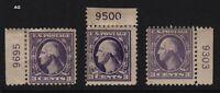 1918 Sc 530 MHR plate number singles  Hebert CV $30