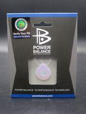 Genuine POWER BALANCE Energy Performance Pendant Necklace Clear/Fuchsia NEW