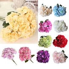 1 bunch Artificial 5-heads Flower Peony Silk Hydrangea Home Decor Wedding Garden
