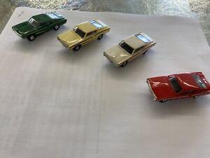 AURORA T-JET #1408 TORINO Lot Of 4 Amazing Slot Cars Howard Killgore