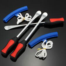 3Pc Tire Lever Tool Spoon Motorcycle Tyre Iron Changing w 2x Wheel Rim protector