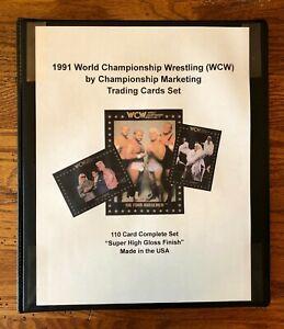 🔥1991 Championship Marketing WCW Complete Set 1-110 Sting Ric Flair Lex Luger🔥