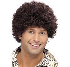 Haute qualité pour homme années 70 perruque afro disco Dude Brown boogie nuit fièvre robe fantaisie