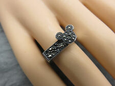 Judith Jack Ring Mickey Mouse Disney Sterling Silver Size 5 Marcasite 968f