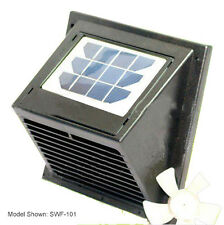 New Wall Solar Vent/Fan, for Bathroom, Basement, Greenhouse, Shed etc.