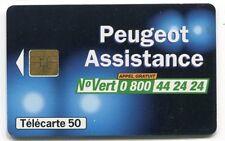 TELECARTE 50  PEUGEOT ASSISTANCE