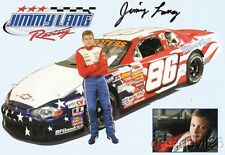 2005 Jimmy Lang signed Jimmy Lang Racing Chevy USAR Hooters Cup postcard