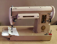 1956 SINGER Sewing Machine Working Model 301A Portable RARE Trapezoidal Case NM